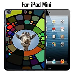 Funny Giraffe Circle Custom Case/ Cover/Skin *NEW* Case for Apple iPad Mini - Black - Plastic Case (Ships from CA) Custom Protective Case , Design Case-ATT Verizon T-mobile Sprint ,Friendly Packaging - Slim Case