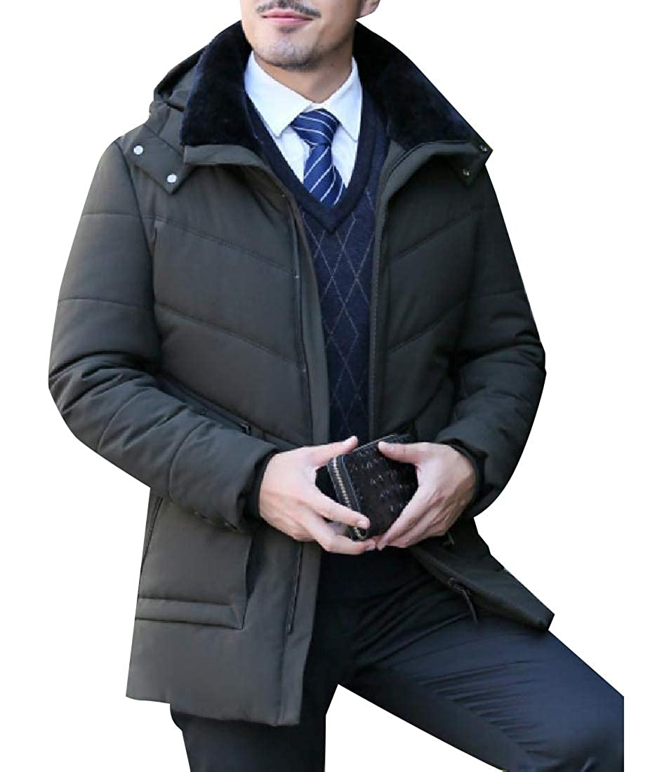 Coolred-Men Adult Water-Resistant Padded Thick Coat with Chin Guard