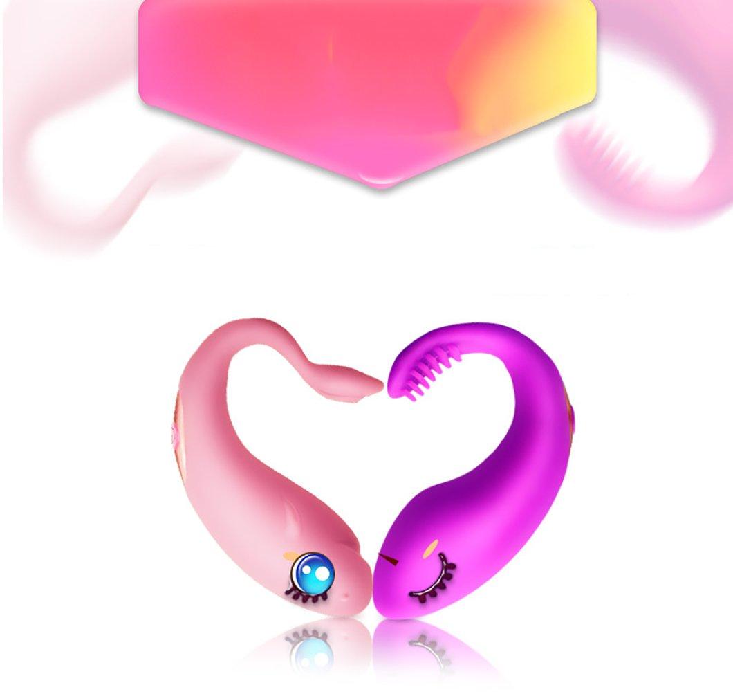 Mmsww Nuevo Huevo De Salto 10 Vibración Cepillo De Frecuencia Control De Cepillo Vibración De Control Remoto Carga USB Productos De Sexo para Adultos Portátiles Dispositivo De Masturbación Femenina,Pink 60f286