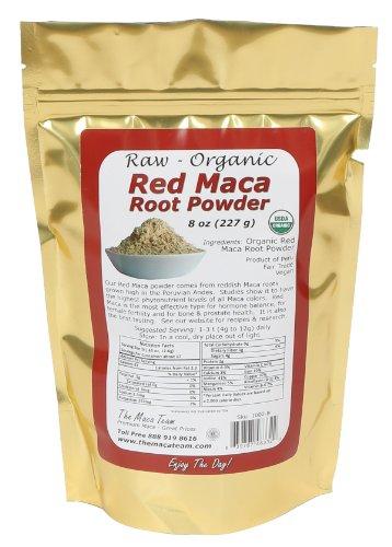 Сырье Red Мака порошок корня, Органические, справедливая торговля, ГМО-Free, свежий 2014 Harvest, Vegan, 8 Oz
