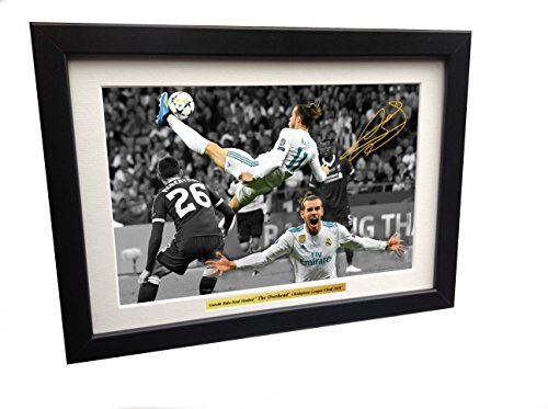 Champions League Goals - Gareth Bale 12x8 A4 Signed The Overhead Goal -Champions League Final 2018 - Real Madrid 3 vs Liverpool 1