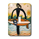 3dRose LLC lsp_21214_1 Surfer Girl Outdoors Recreation Woman Surf Ocean - Single Toggle Switch