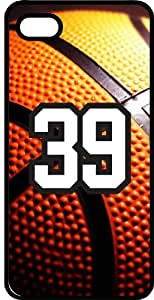 Basketball Sports Fan Player Number 39 Smoke Rubber Decorative iPhone 4/4s Case