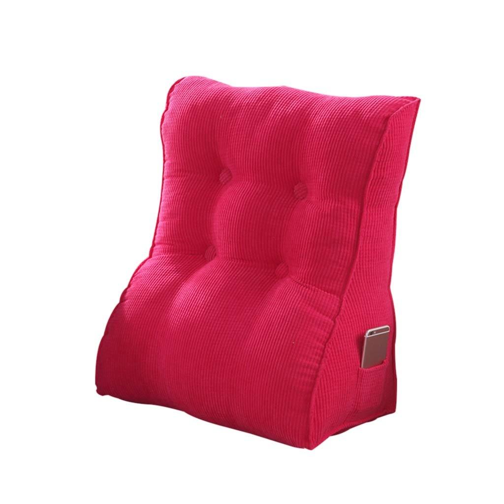DUHUI Bett Wedge, Wedge für Wohnzimmer und Schlafzimmer, Sleeping Wedge, zur Entlastung der Wirbelsäule, Stillkissen zum Liegen und Sitzen (Farbe : ROT-1, größe : 45x55x30cm)
