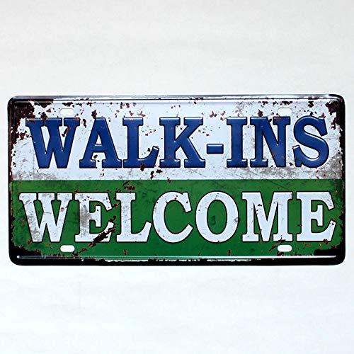 Alishopp Bar Signs, Sign Plate, Metal Painting, Free WiFi Funny Vintage License Plates Antique Pub Decoration Retro Iron Painting Metal Tin Signs Metal Craft Decor 3015 cm ()