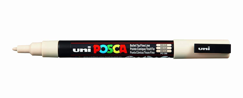 UNI-BALL POSCA MARKER PEN PC-3M - BEIGE - SINGLE PEN