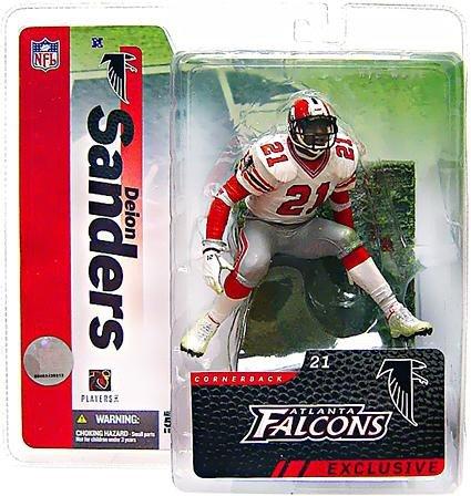 (McFarlane Toys NFL Sports Picks 2006 Collectors Club Exclusive Action Figure Deion Sanders (Atlanta Falcons) White)