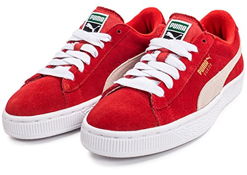 Puma355110 Z - Zapatillas de Deporte Niños Beige-Blanco-Rojo