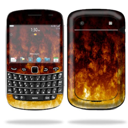 Mightyskins Protective Skin Decal Cover for Blackberry Bold 9900 or 9930 Cell Phone wrap sticker skins Firestorm