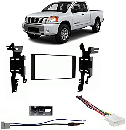 NEW fits 2013-2015 NISSAN TITAN Double DIN Dash Kit with Wire Harness