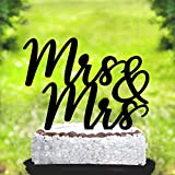 Susie85Electra Mrs And Mrs Wedding Cake Toppers,Lesbian Wedding Cake Topper,Same Sex Wedding Cake Toppers Funny