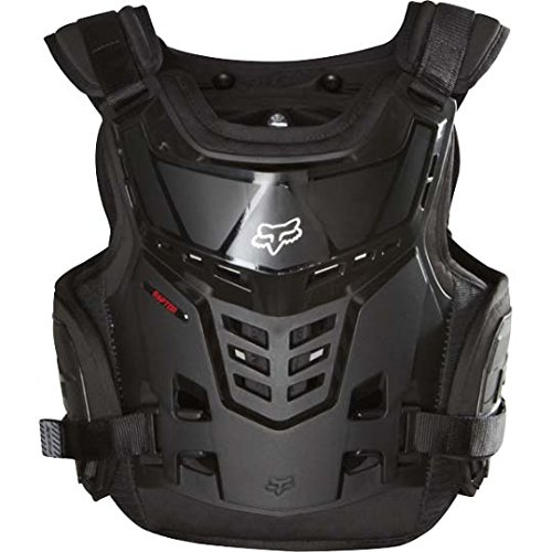 Fox Racing Raptor Proframe LC Youth Roost Deflector Off-Road/Dirt Bike Motorcycle Body Armor - Black / One (Chest Plate Armor)