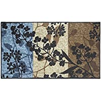 Modern Living Tulips Decorative Area Accent Rug, 18 by 30-Inch
