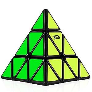 D-FantiX Pyramid Speed Cube 3x3 Triangle Magic Cube Puzzle Black