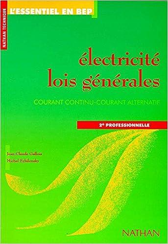 Télécharger en ligne Electricité, 2de professionnelle, 1996. Fichier de l'élève pdf