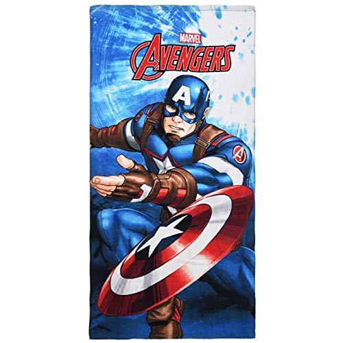 Captain America Marvel Avengers, bellissima idea regalo per bambini – asciugamano/asciugamano da sauna/telo da spiaggia/telo doccia/asciugamano da bagno – 70 x 140 cm – cotone AMJ