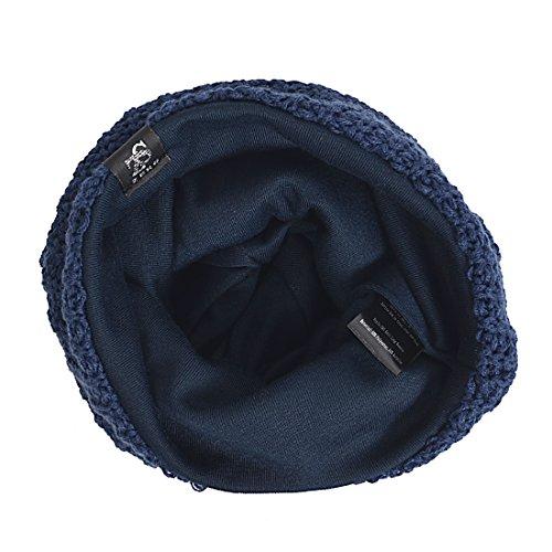 punto azul clásico para marino Talla de holgado invierno única Gorro hombre de xqwTBB