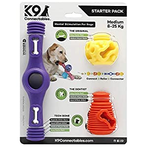 K9 Connectables Medium Starter Pack Purple/orange/yellow 3piece 19