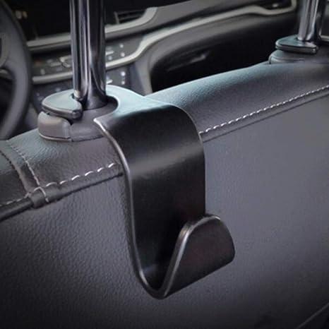4 X Auto Rücksitz Haken Universelle Auto Kopfstützen Aufbewahrungshaken Platzsparend Praktisch Für Einkaufstasche Handtaschen Lebensmitteltasche Schwarz 4 Stück Küche Haushalt