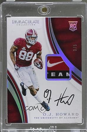 O.J. Howard #/5 (Football Card) 2017 Panini Immaculate Collection Collegiate - [Base] - Brand Logo #146