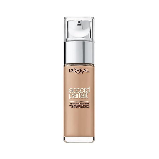 150 opinioni per L'Oréal Paris Fondotinta Fluido Coprente Accord Parfait, Risultato Naturale, No
