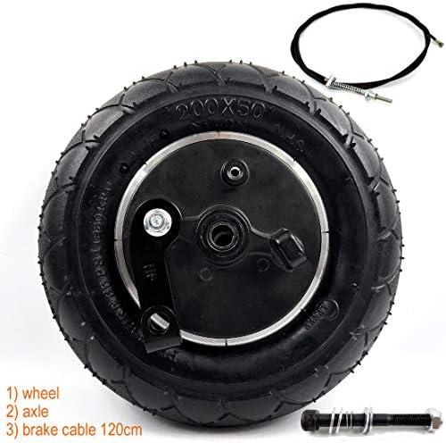 ドラムブレーキ付き8インチホイール8インチ膨張ブレーキ付きエアホイール電動スクーターブレーキアルミホイール200×50ホイールブレーキ (wheel+axle cable120)