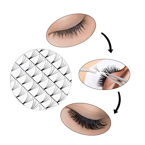 3a58532a029 Russian Volume Premade Fans Eyelashes Extension 5D Thickness 0.07/0.10 Curl  C/D Length
