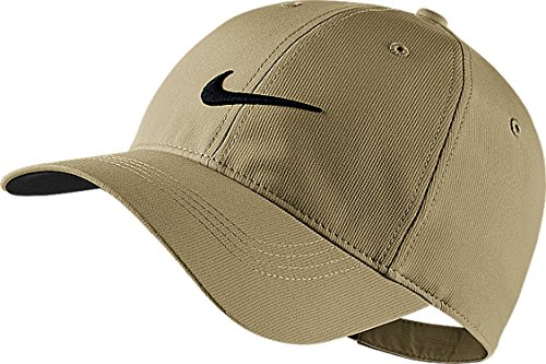 Nike Mens Golf Legacy91 Tech Adjustable Hat ( Color:Khaki/ Anthracite/ White) (Athletic Logo Athletic Hat)