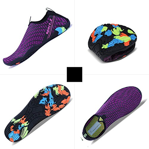 Qzbaoshu Surf viola Walking Scarpe Diving Acquatici Donna 3 Sport Beach Swim Water Shoes Uomo 8xrFwq8O