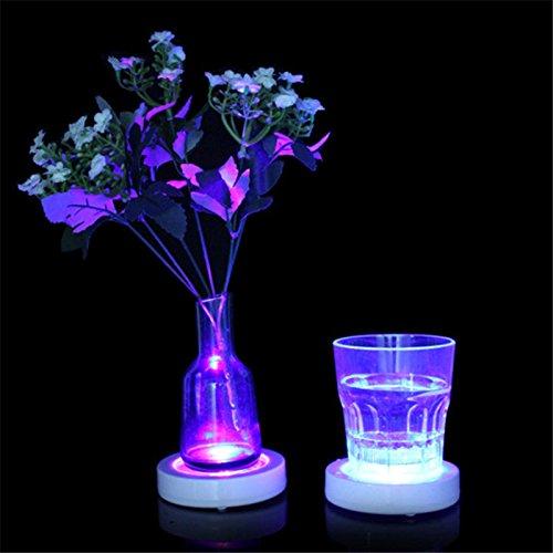 Desconocido GI873167 Posavasos de Cristal con luz LED diseño de Botella de Bebida Ideal para decoración de Fiestas