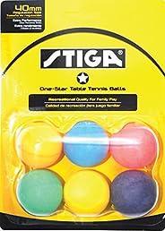 STIGA 1-Star Table Tennis Balls (6 Pack)