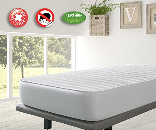 -[ Velfont Anti-dustmite Reversible Silky Soft Quilted Mattress Protector/Mattress Pad, King Size (