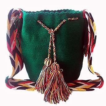 Wayuu handmade crossbody bag for women - BASIL