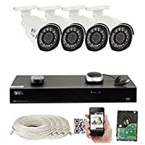 GW Security 8 Channel 4K 8MP NVR Sony Exmor R Starvis HD 1920P Home Security System - 4 x Bullet 5 Megapixel 2.8-12mm Varifocal Zoom Waterproof IP PoE Cameras