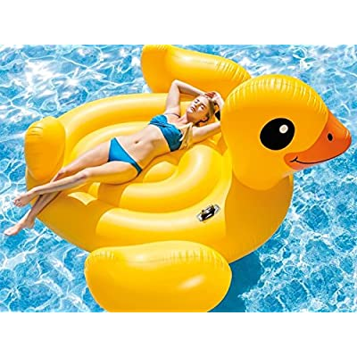 Intex Inflatable Mega Yellow Duck Island Float: Sports & Outdoors