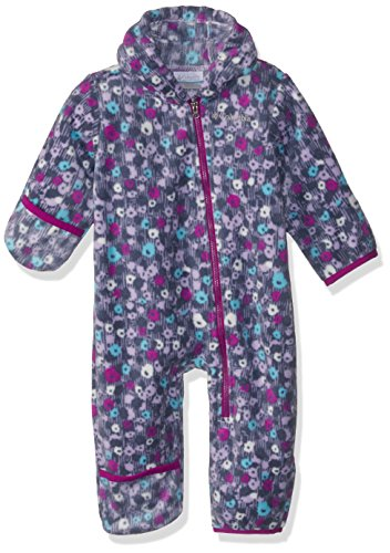 Columbia Unisex Baby Infant Snowtop II Bunting, Soft Violet Floral Print, 18/24