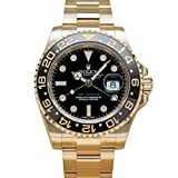 Rolex GMT-Master II Yellow Gold Watch Black Dial Box/Papers 116718LN