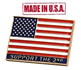 "Cheap TRS United States of America""Support the Second"" Flag Pin"