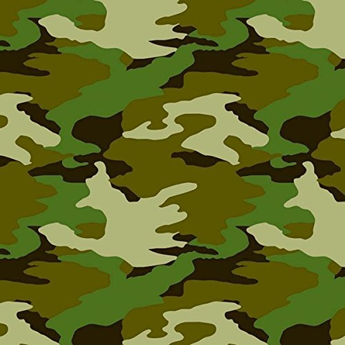Camouflage Printed Gift Wrap w/Hang Tab, Party Favor -