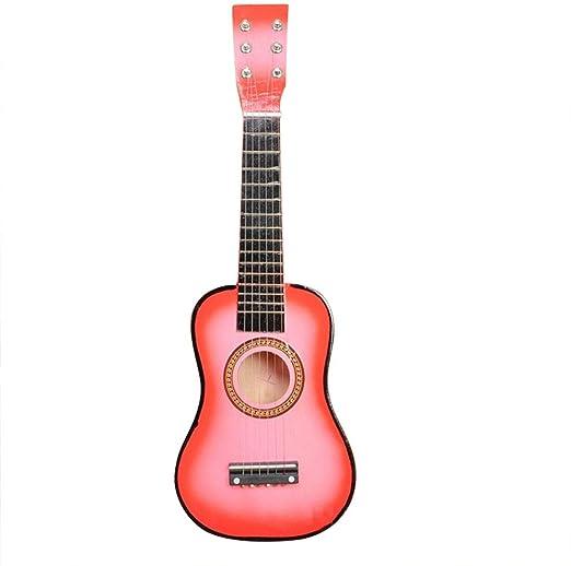 Guitarra clásica para niños, juguetes musicales con 6 cuerdas ...