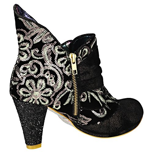 Black Irregular Choice Aquatic Boots Aquatic Miaow Black Women's Ankle Pewter xBgFwX