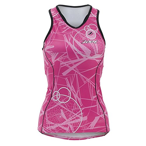 (Zoot Sports Womens W Ultra Tri BCRF Racerback Pink SM)