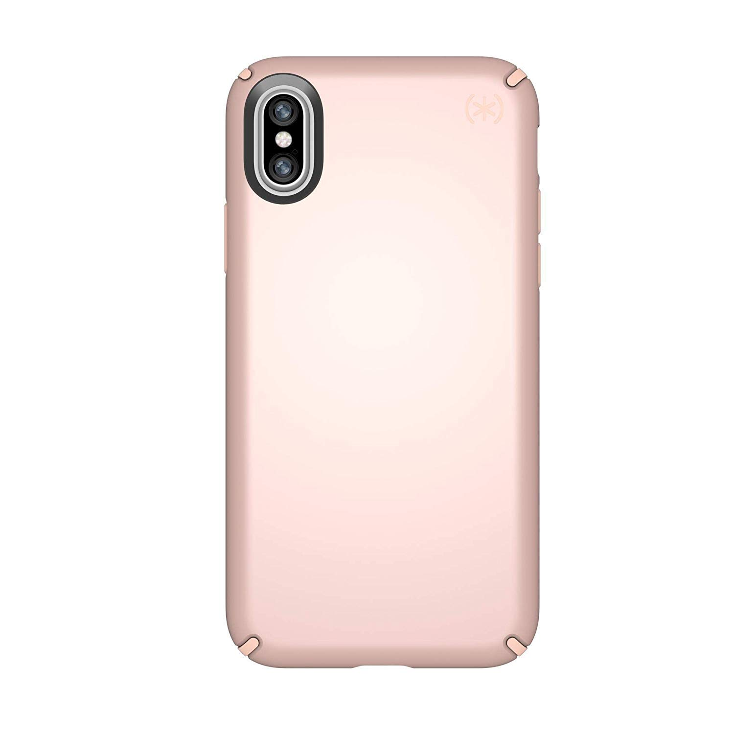 sale retailer 82549 dca0d Speck Products Presidio Metallic Case for iPhone X, Rose Gold  Metallic/Dahlia Peach
