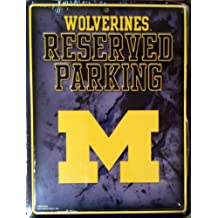 Michigan Wolverines NEW LOGO METAL Wall Parking Sign University of