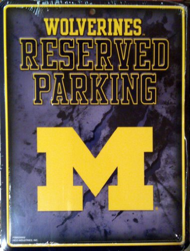 - Michigan Wolverines NEW LOGO METAL Wall Parking Sign University of
