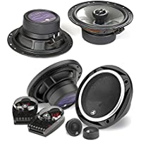 JL Audio C2-650 450W 6.5 2-Way Evolution C2 Series Component Car Speakers System + JL Audio C2-650x 450W 6.5 2-Way Evolution C2 Series Coaxial Car Speakers - Bundle Speaker Package
