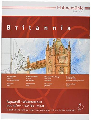 [해외]오리온 마구 뮤 레 브리타니아 수채화 용지 구획 HBR-24 (240 × 320mm) / Orion Hahnemule Britannia Watercolor Block HBR-24 (240×320mm)