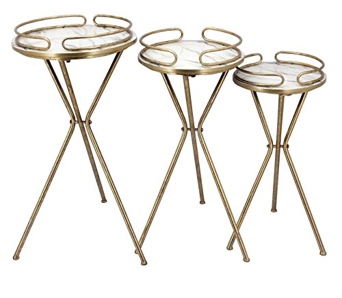 Gold Metal Plant Stand - 1