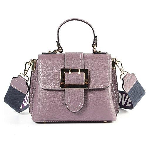 Casual In Da A Shishang Zyxcc Light Borsa colore Tracolla Colour Caramel Purple Donna Grande Moda Pelle Xwf1zgqx