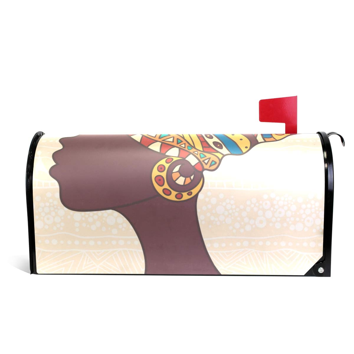 ALAZA African Woman Magnetic Mailbox Cover Oversized-25.5'' x20.8